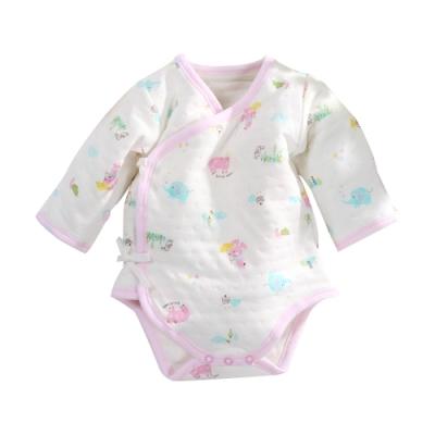 魔法Baby 台灣製三層棉純棉護手連身衣 b0209