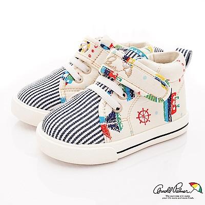 雨傘牌 海軍風休閒鞋款 EI73237米白色(小童段)