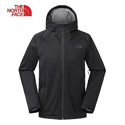 The North Face北面男款黑色防水透氣衝鋒衣|3RKIJK3