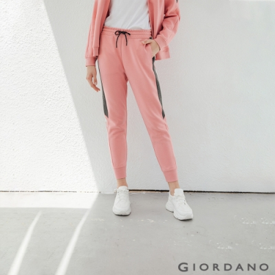 GIORDANO 女裝G-MOTION側邊字母運動束口褲-12 杏酒粉紅