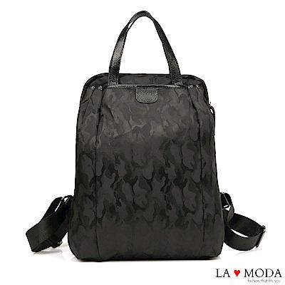 La Moda 簡約大方防潑水超大容量後背包(迷彩)
