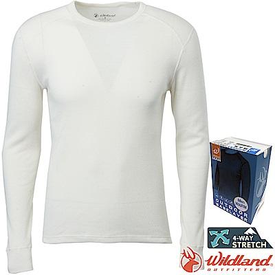 Wildland 荒野 H2666-81米白 男Highest圓領保暖衣 發熱衣