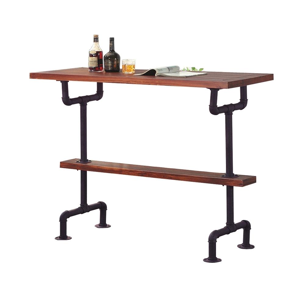 柏蒂家居-巴羅4.7尺工業風造型水管吧台桌/長桌-141x51x105cm