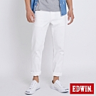 EDWIN EDGE LINE COOL 斜紋 中直筒休閒褲-男-白色