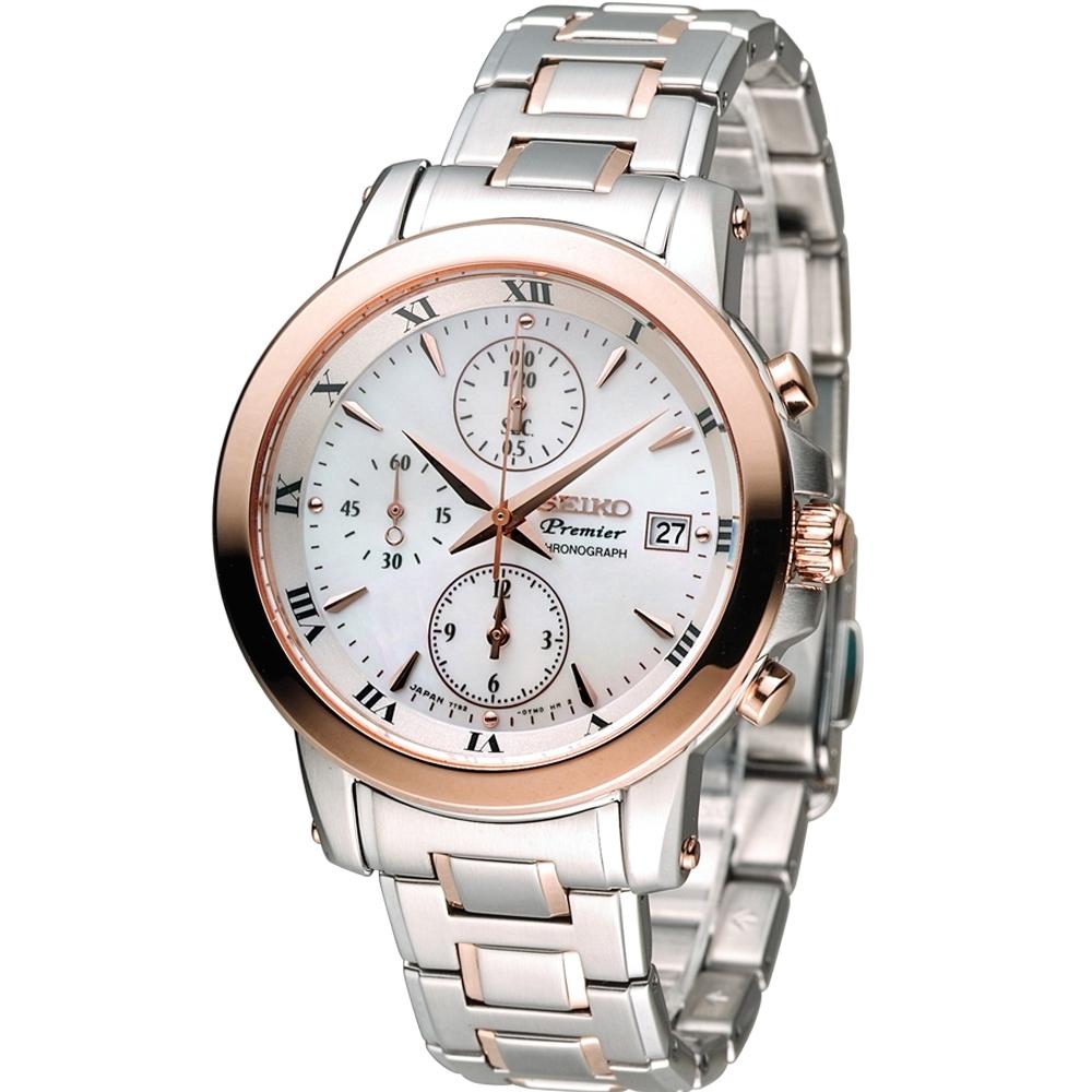 SEIKO Premier 運動風格時尚腕錶7T92-0TG0S#SNDV68J1