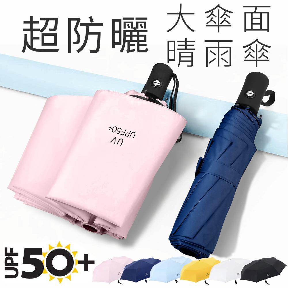 CITI 超防曬抗UVUPF50+ 8骨防風大傘面 輕量體感降溫自動傘/晴雨傘