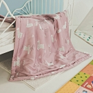 絲薇諾 兒童天絲涼被-桃紅捲捲羊(105×120cm)
