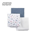 【Mamas & Papas】Muslin紗布巾3入-芬多鯨