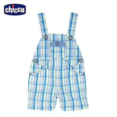 chicco-車車旅遊趣-格紋吊帶短褲