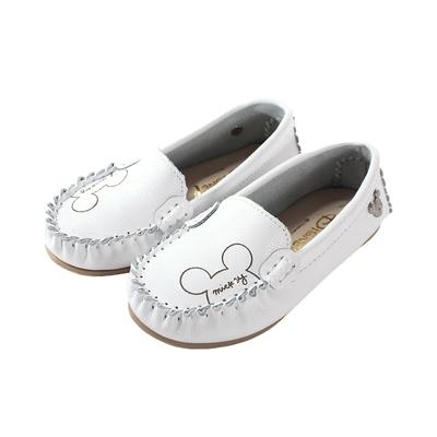 魔法Baby女鞋 台灣製迪士尼米奇正版真皮休閒帆船鞋~sd3271