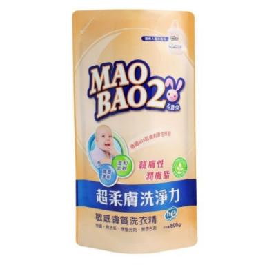 (即期品)毛寶兔 超柔膚敏感膚質洗衣精-補充包(800gX12/箱)-效期到2021/1
