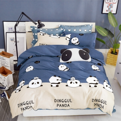 A-ONE 雪紡棉 單人床包/枕套 二件組-小懶熊 MIT台灣製