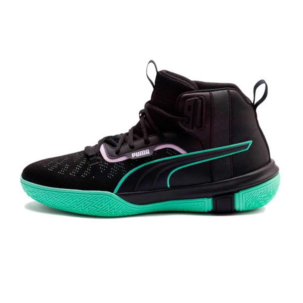 PUMA-Legacy Dark Mode 男性復古籃球運動鞋-黑色