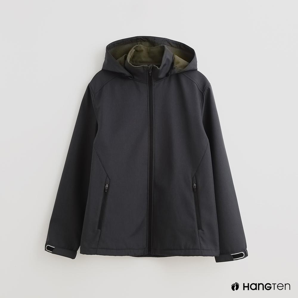 Hang Ten 男裝 ThermoContro-配色機能拉鍊刷毛外套-灰