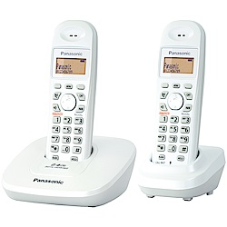 Panasonic國際牌 2.4GHz數位式無線電話 KX-TG3612-珍珠白