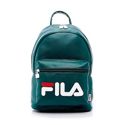 FILA 皮革小型雙肩後背包-綠 BPS-5401-GN