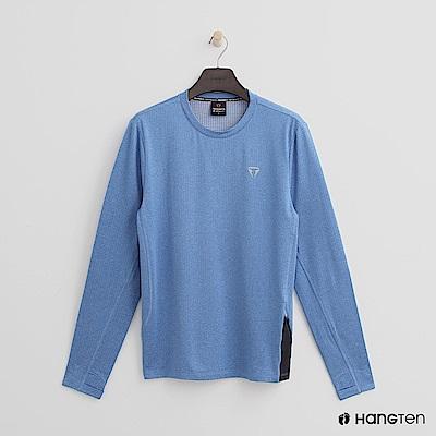 Hang Ten -男裝-ThermoContro-休閒質感舒適機能系列上衣-藍