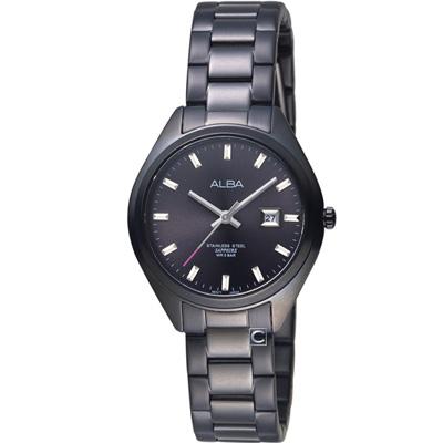 ALBA 漫步都會時尚腕錶(AH7R19X1)黑/31mm