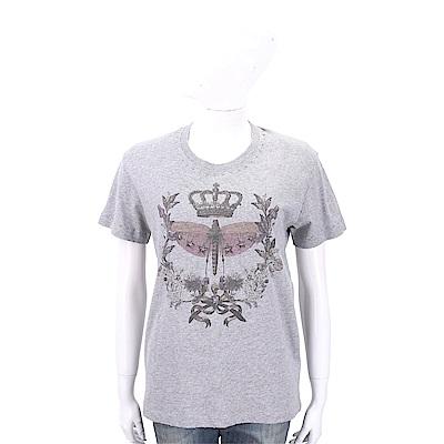 RED VALENTINO 星型鉚釘圖印灰色印花棉質T恤