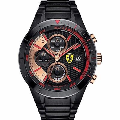 FERRARI 法拉利RedRev Evo速度計時快感運動時尚腕錶/紅/FA 0830305