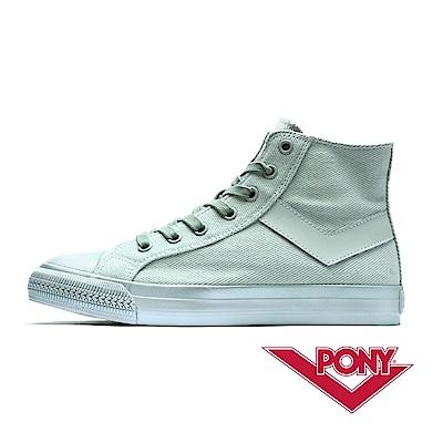 【PONY】Shooter系列珍珠光感鞋面帆布鞋 女鞋 世外桃源綠