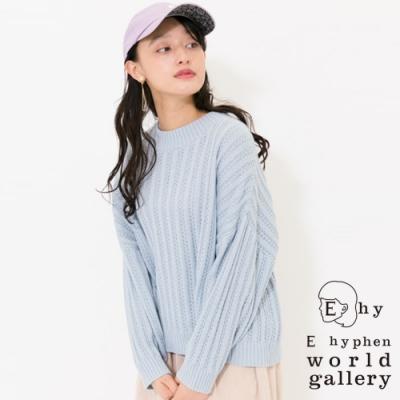 E hyphen 鏤空針織造型上衣