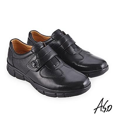 A.S.O 3D超動能 舒適超彈力休閒鞋 黑