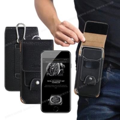 City Boss for iPhone SE2 4.7吋潮流紳士插卡腰掛皮套-送掛勾