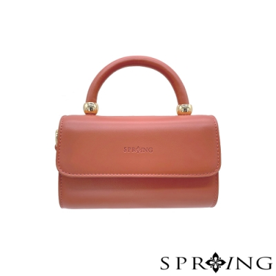 SPRING-簡約迷你手提包-珊瑚粉