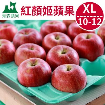 [甜露露]青森紅顏姬蘋果XL 10-12顆入宅配盒(3.1kg)