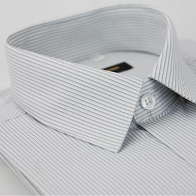 金‧安德森 灰色條紋吸排窄版長袖襯衫fast