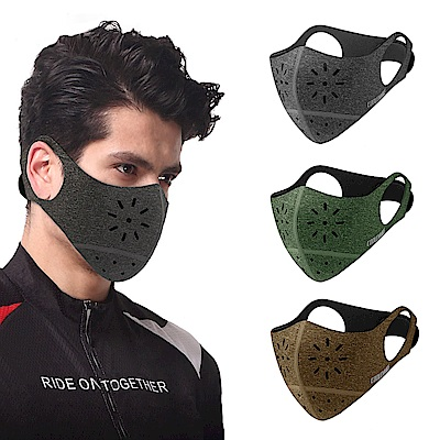 活力揚邑 後貼式活性碳運動騎行口罩6層過濾防霾面罩