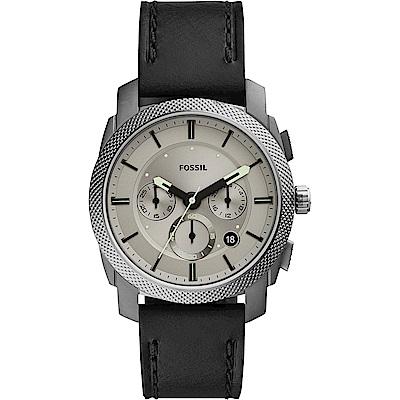 FOSSIL 無可取代時尚計時手錶-灰x黑/42mm (FS5482)