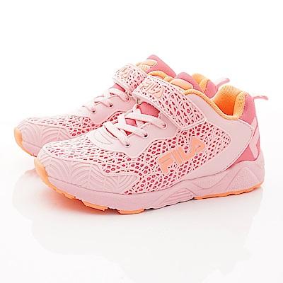 FILA頂級童鞋 酷炫網狀運動款 FO08T-556粉(中大童段)