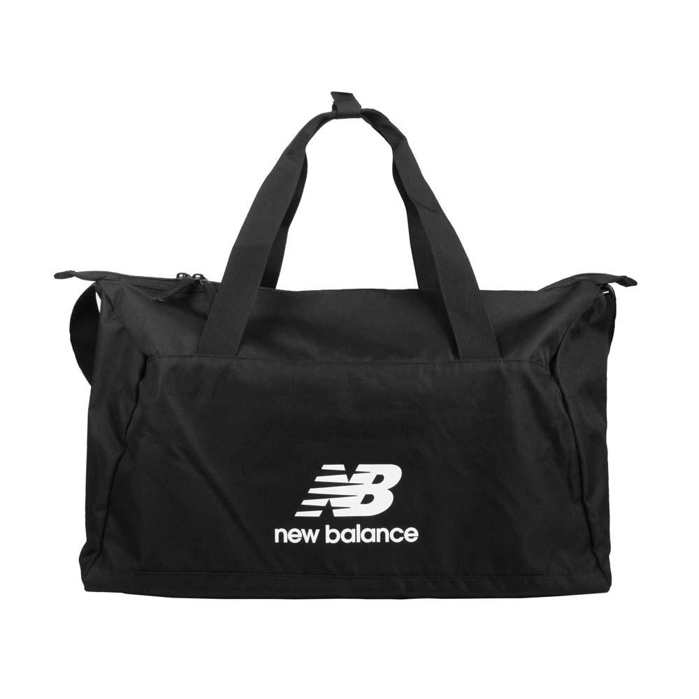 NEWBALANCE 大型旅行袋-行李袋 側背袋 裝備袋 NB BG03203GBKW 黑白