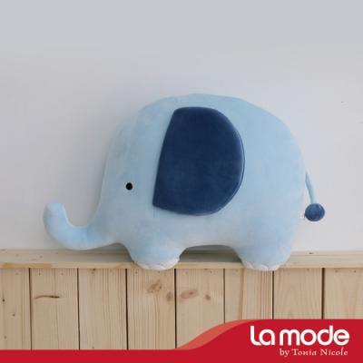 La mode寢飾 噗噗小象造型靠枕