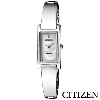 CITIZEN星辰 優雅女神珍珠母貝方型石英女錶-EZ6360-50D
