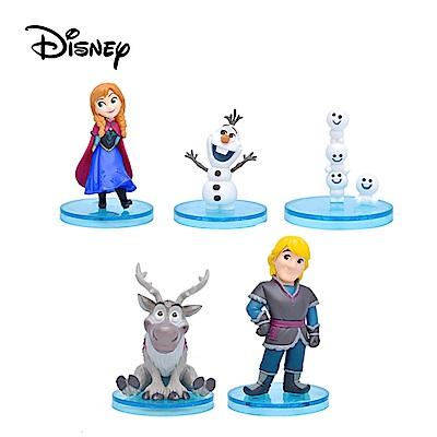 日本正版 全套 5 款 冰雪奇緣 安娜 雪寶 WCF story 公仔 迪士尼  378443