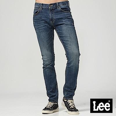 LEE 低腰合身小直筒牛仔褲/中藍色