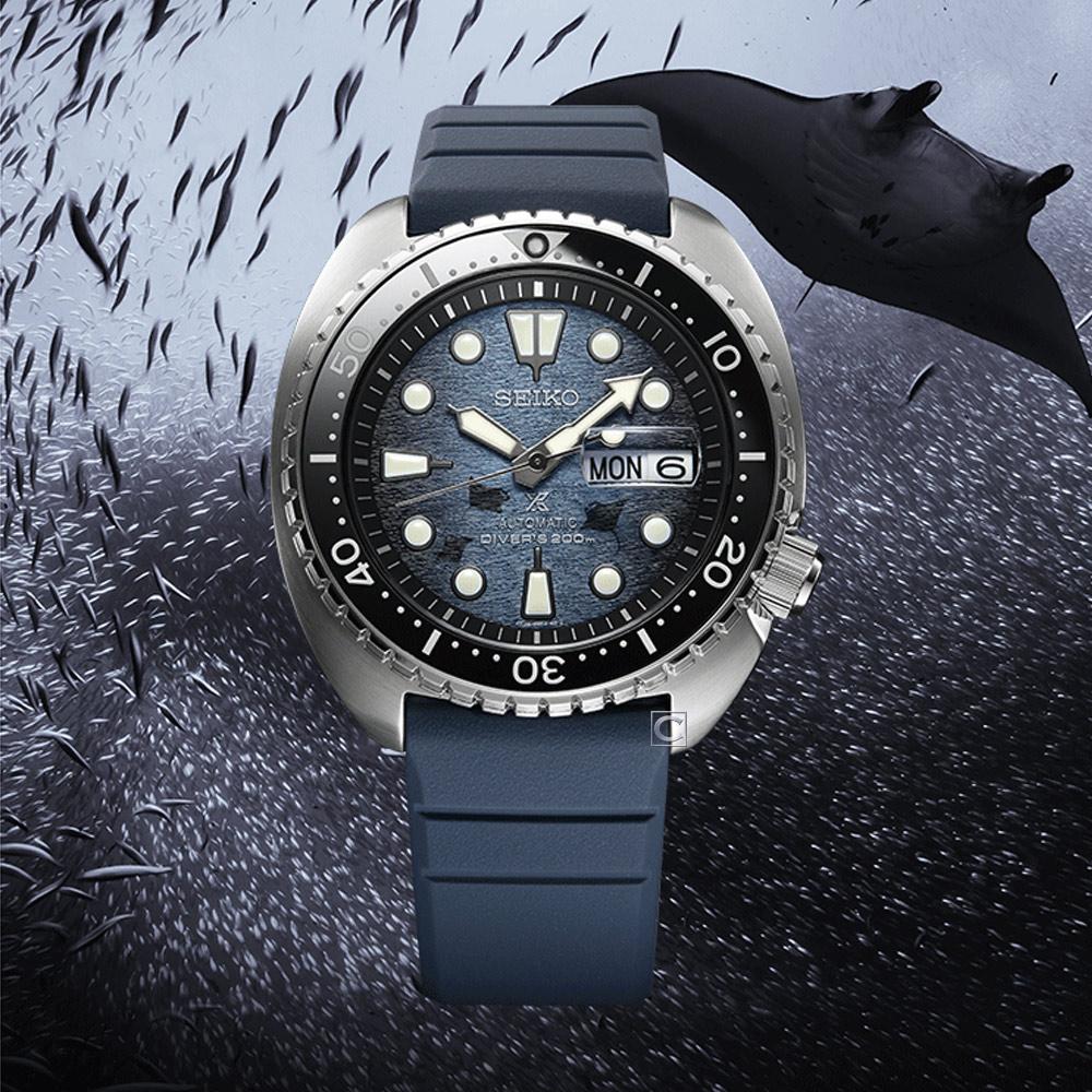SEIKO 精工 PROSPEX 魔鬼魚海龜王200米潛水機械錶(4R36-06Z0H)SRPF77K1
