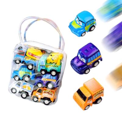 colorland【3組入】迴力車 兒童卡通迷你迴力小汽車玩具工程車(18輛裝)