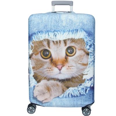 新一代 牛仔躲貓貓行李箱保護套(21-24吋行李箱適用)一個