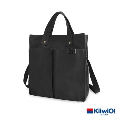 Kiiwi O! 英式經典系列兩用帆布托特包 KAREN 黑