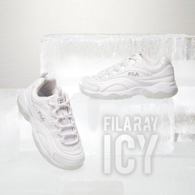 FILA RAY ICY 中性運動鞋-霜花銀 4-C101V-103