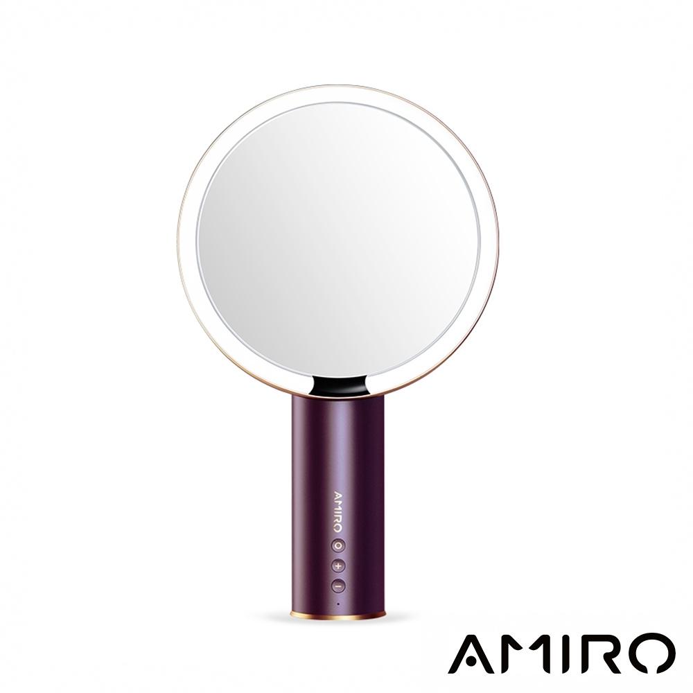 (送放大鏡)AMIRO O 系列高清日光化妝鏡(無線充電版) - 勃根地酒紅限量版