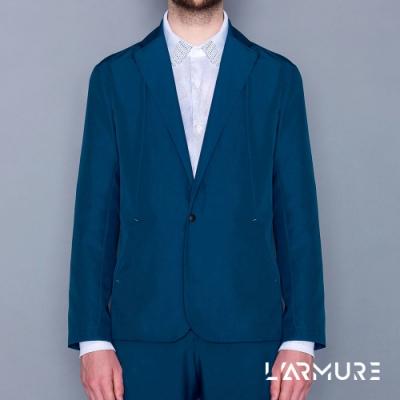 L ARMURE 男裝 Ultra-Light防潑水休閒西裝 (湛藍色)