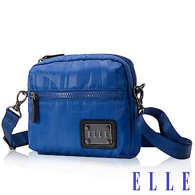 福利品 ELLE 法式優雅休閒 CollectionII系列 輕細尼龍防潑水小包-海藍色
