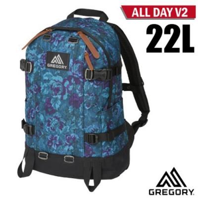 GREGORY ALL DAY V2 日系雙肩休閒後背包22L_迷幻藍花