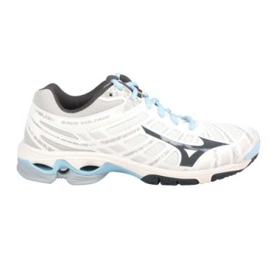 MIZUNO WAVE VOLTAGE 女排球鞋-美津濃 V1GC196018 米白灰水藍