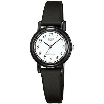 CASIO 回歸復古經典時間女錶-白X黑色數字刻(LQ-139BMV-1B)/18mm